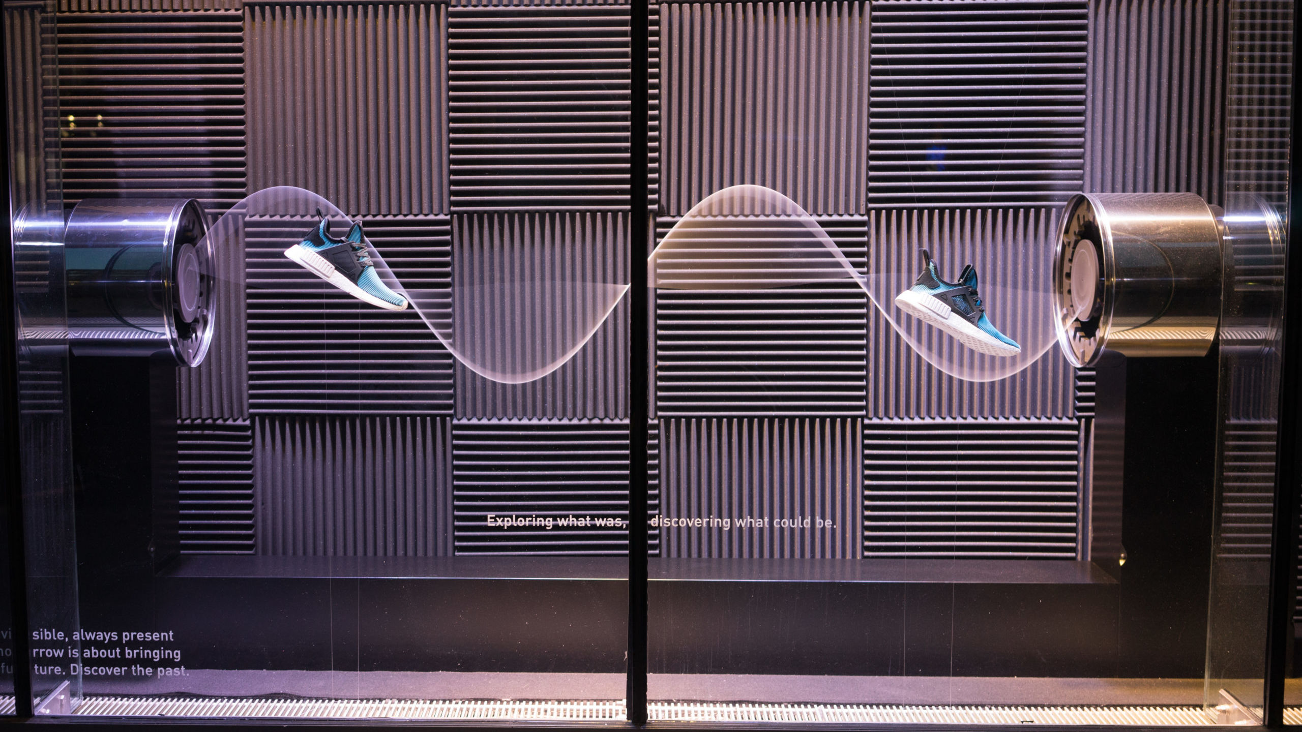 Liganova Adidas Shoe Window Display