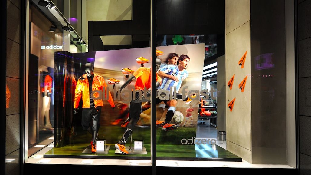 Adidas Window Display